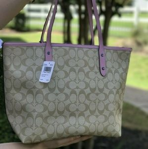 Coach Bags - Coach Disney Signature City Tote Bag Khaki F73359